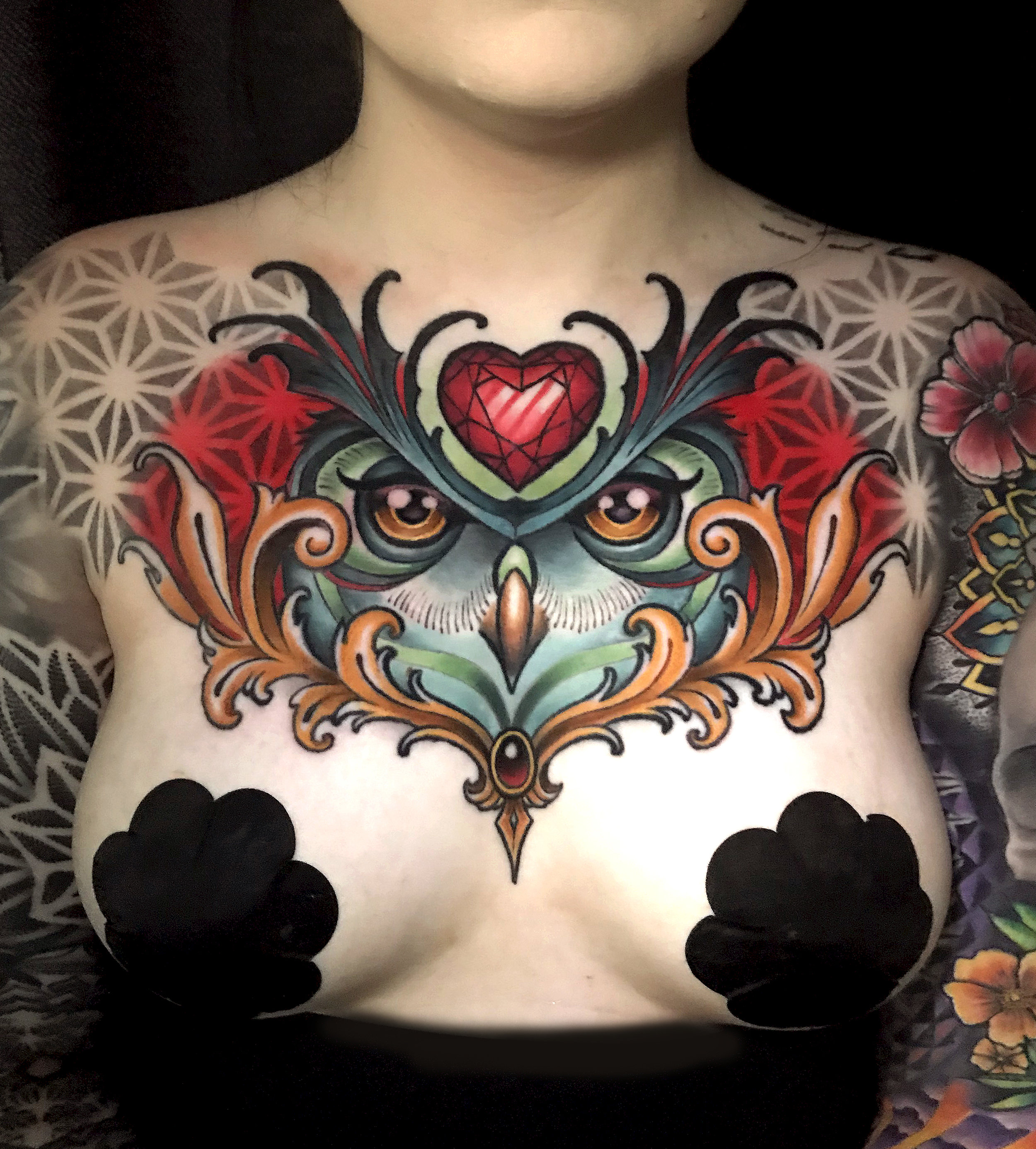 collab owl chest piece tattoo london reese brad reis 2.jpg