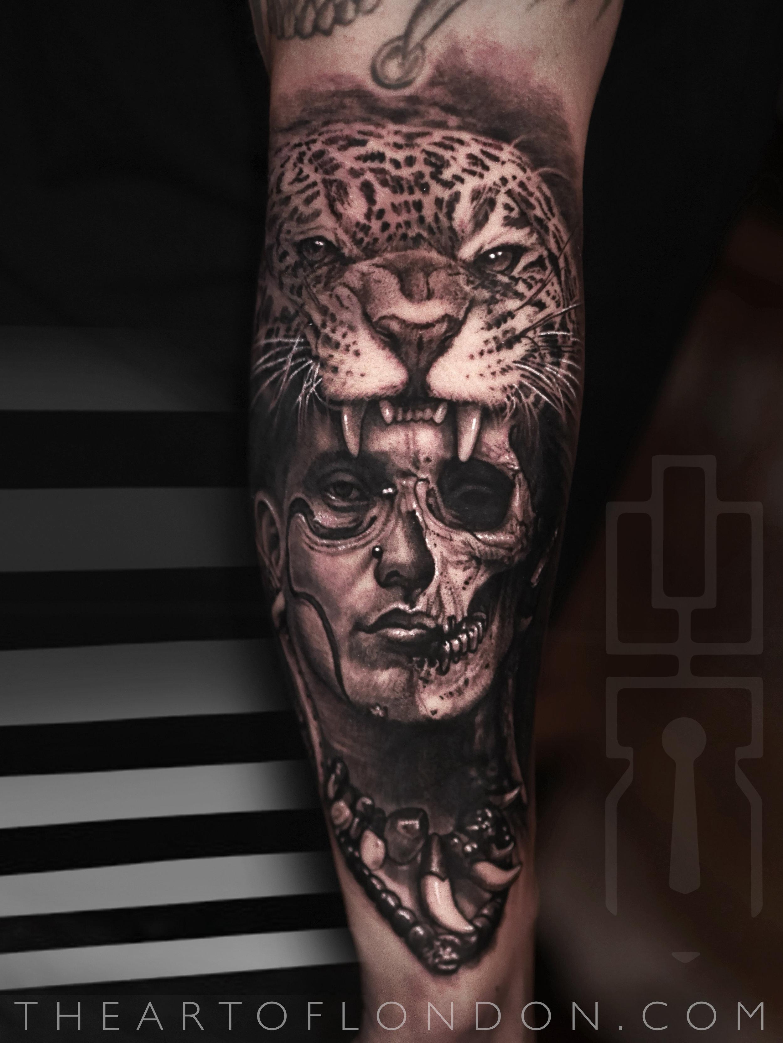 mayan aztec warrior jaguar skull tattoo.jpg