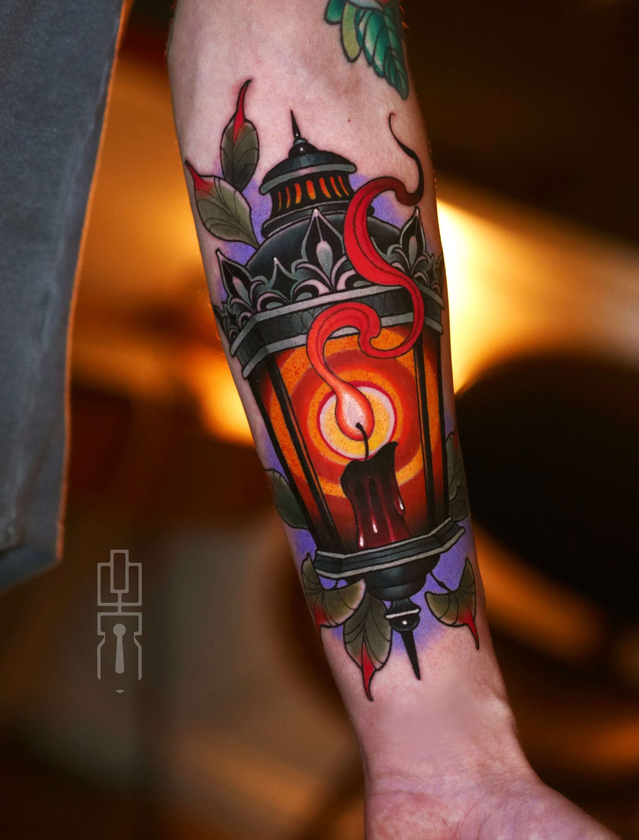 Neo Traditional Lantern Tattoo Design Tattoos Gallery