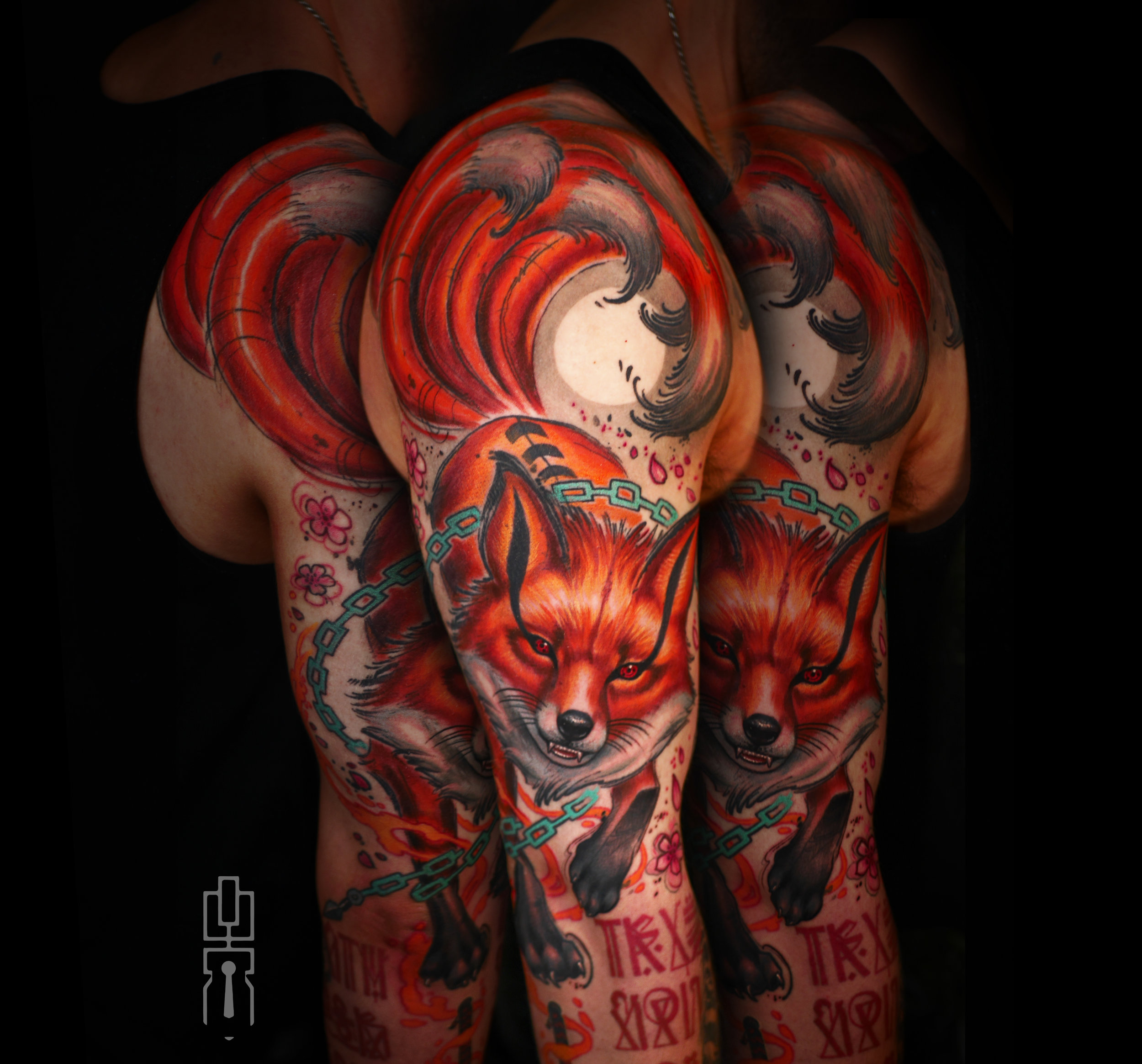 Kurama tattoo Michael Trewartha Grey full.jpg