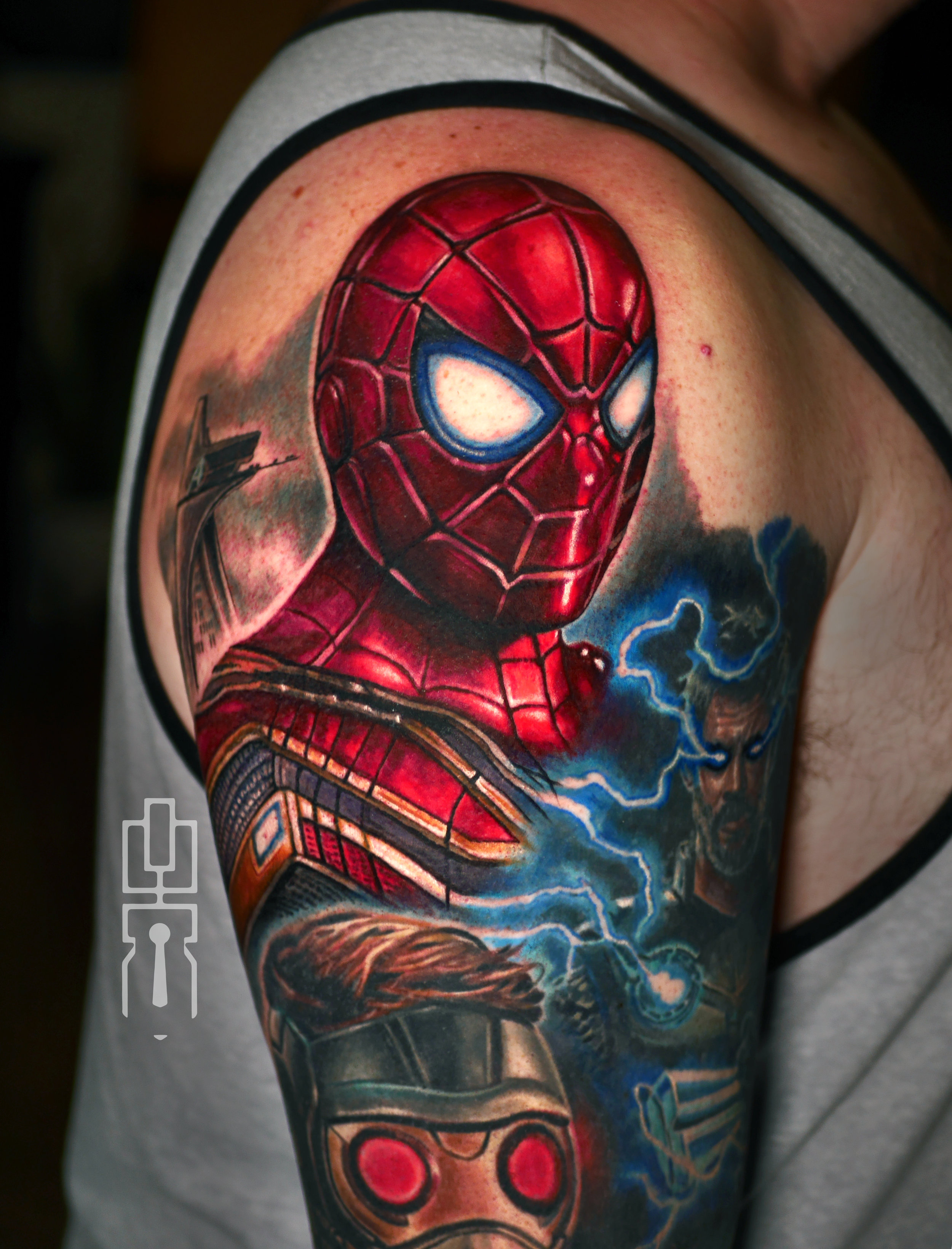 spiderman iron spider suit tom holland tattoo .jpg