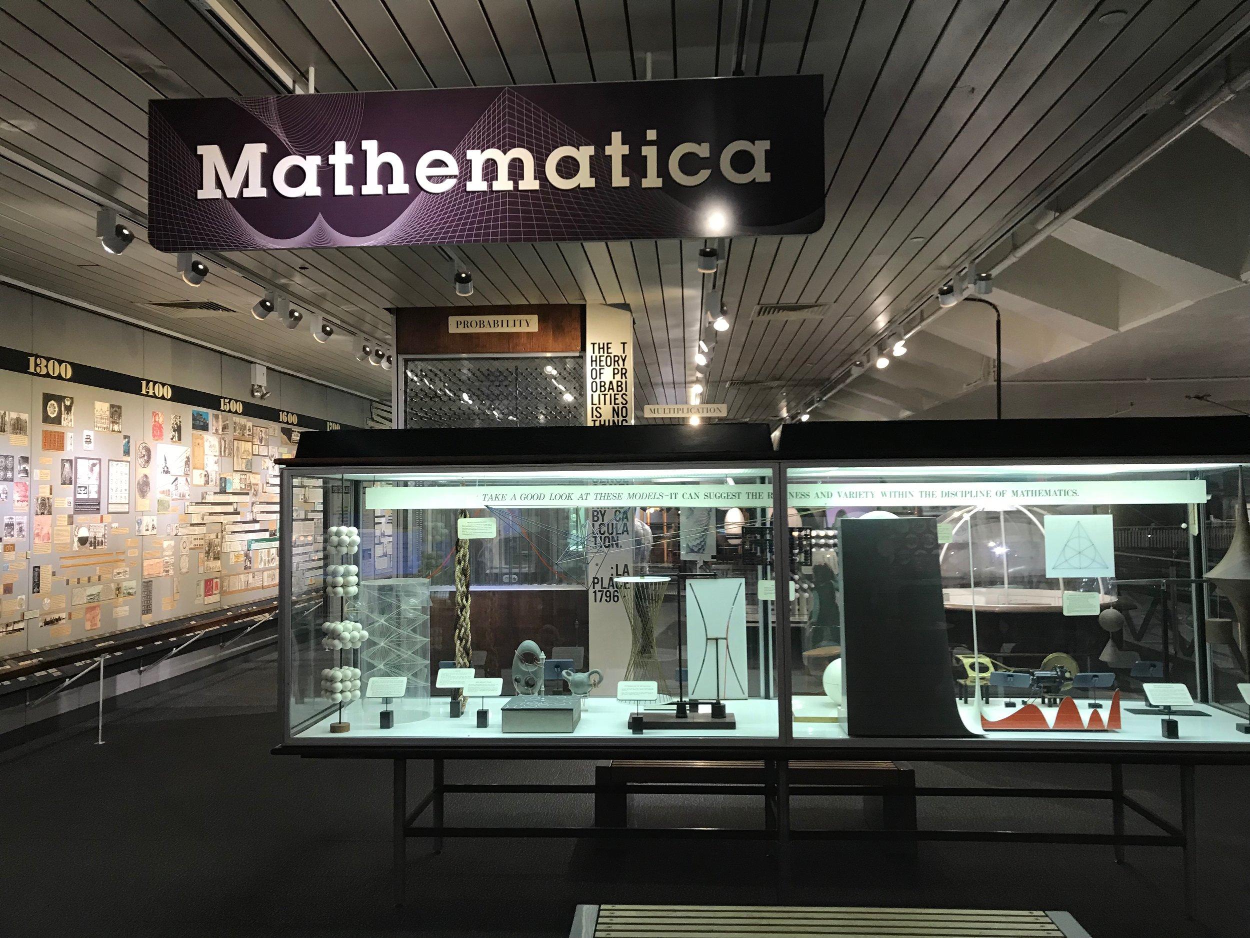 Mathematica Exhibit Area