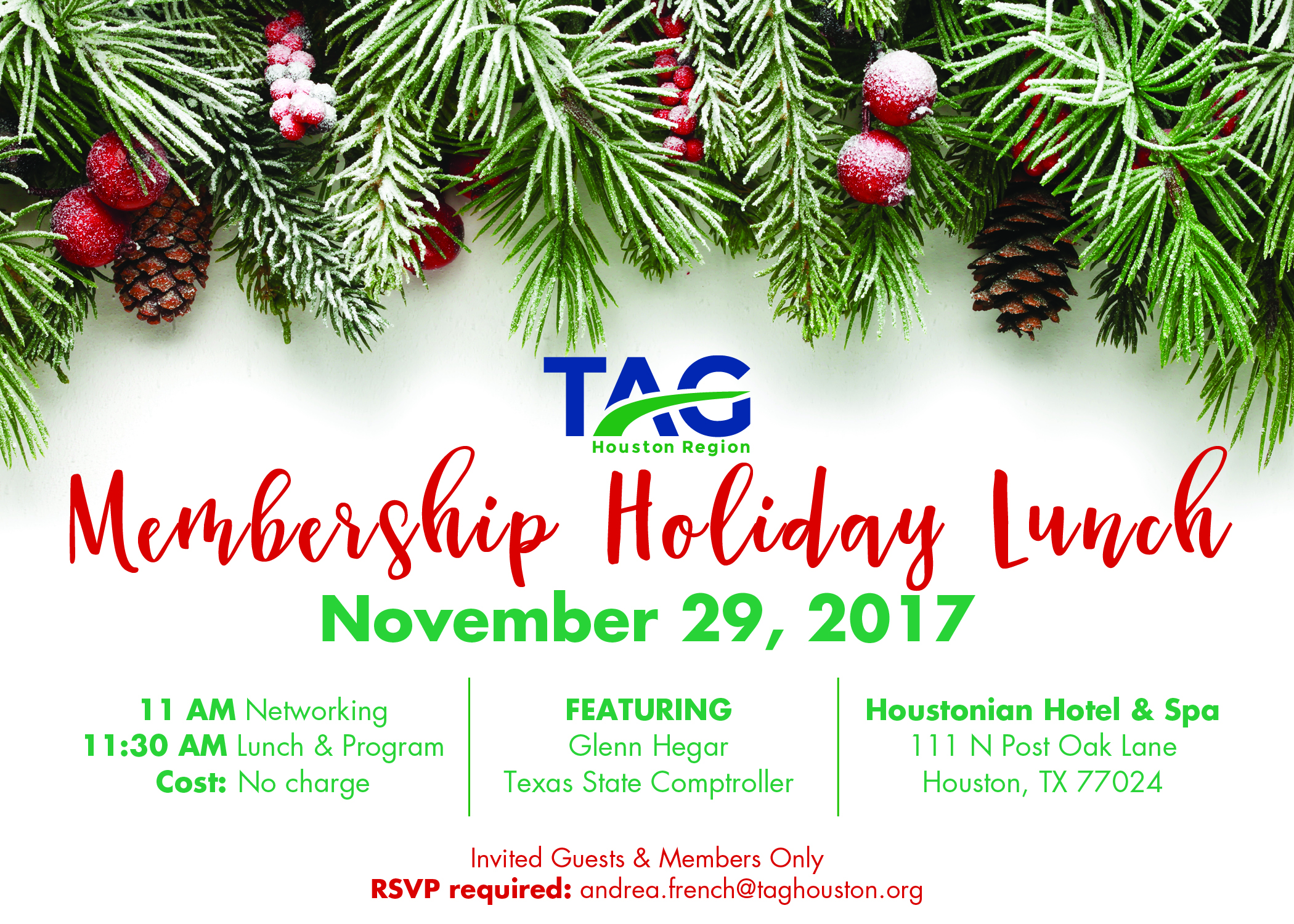TAG Houston - 2017 Membership Holiday Luncheon