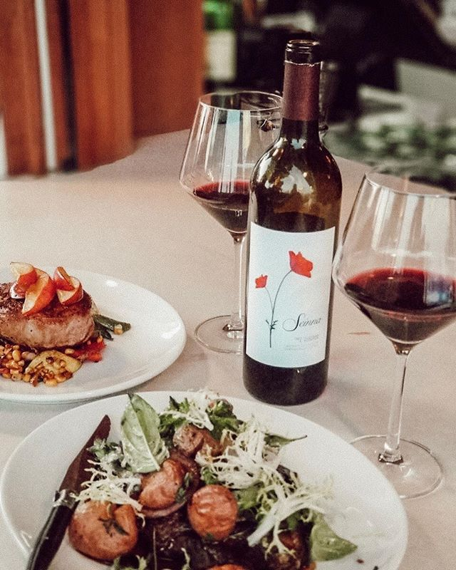 Nothing better than a delicious meal paired with our newly released 2014 Cabernet Sauvignon.  Can't wait to do it again ❤️🍷 #drinkseinna #findthepoppy . . . . . . . . . . . . . . . . . . #foodandwine #heavenonearth #winesisters #wine#winefamily #winelovers #ourheritage #welovewine #summertime #summer #summerlove#seinnawine #instawine #winewednesday