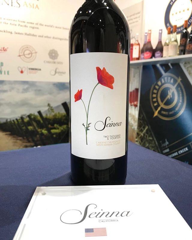 Seinna worldwide #drinkseinna . . . . . . . . . . . . . . . . . . . . . . . . #seinnawine #wine #wineexpo #wineshow #worldwide #hongkong #cawine #californiawine #sbcwine #winefamily #winesisters #cabernetsauvignon