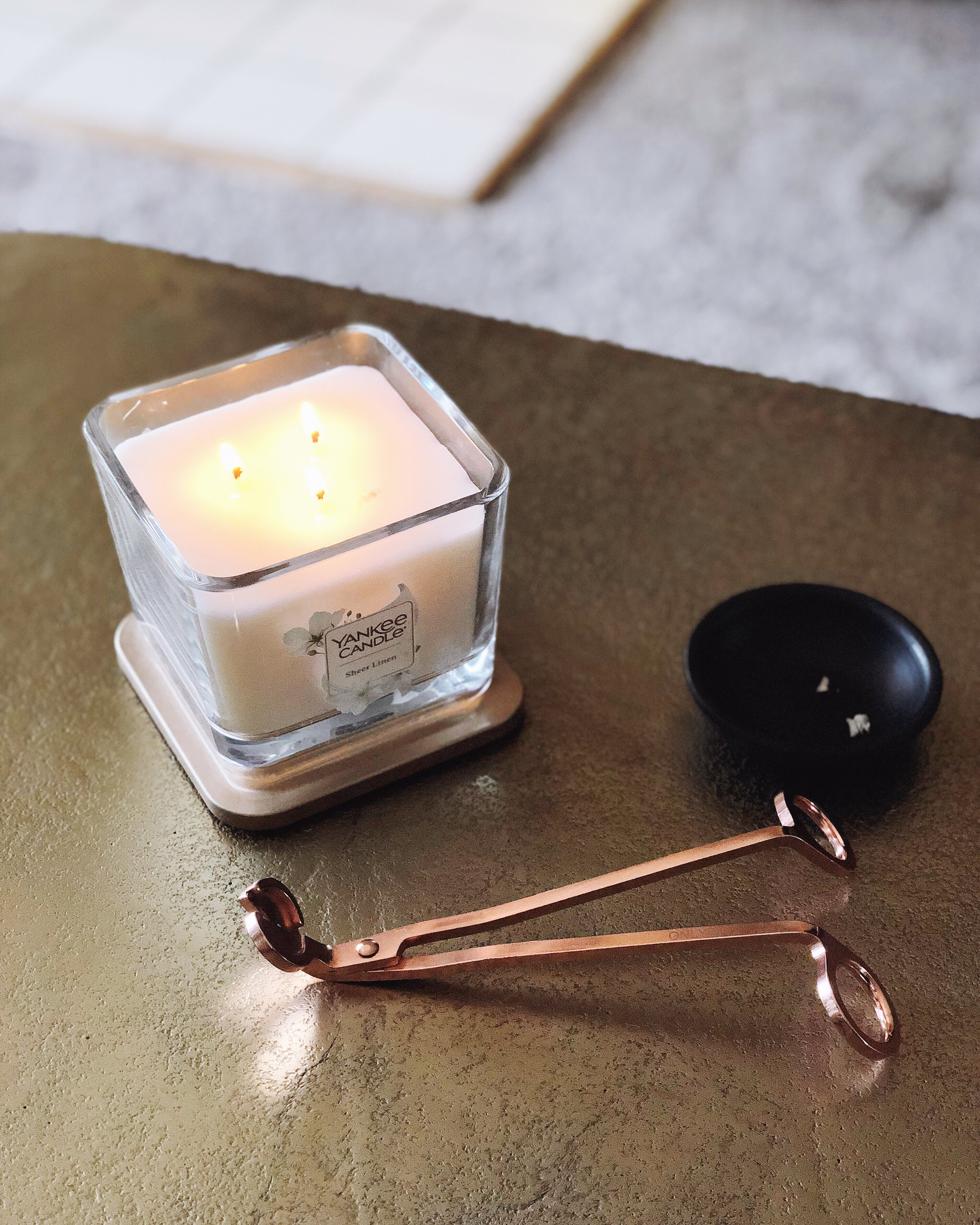 Rose Gold Wick Trimmer  ($11) — if you didn't already know that a wick trimmer can save your life, allow me to educate you! Keeping the wicks of your candles trimmed low helps prevent sparking and excess smoke, reducing the risk of your candles causing an unplanned fire while you burn them. This rose gold option is cheap, but gets the job done!