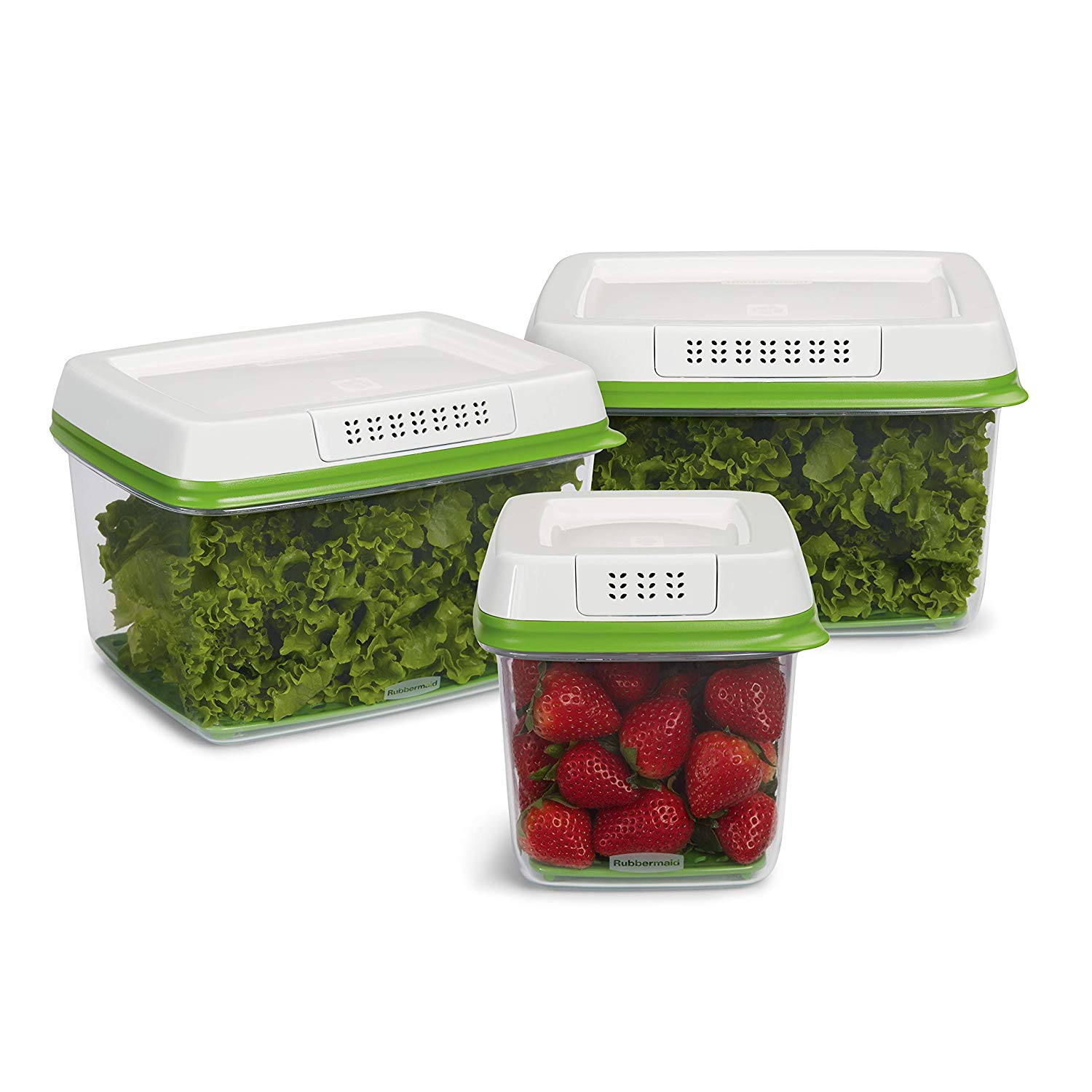 Rubbermaid FreshWorks Produce Saver Food Storage Containers  ($27 for a three piece set) — these storage bins help keep my groceries good for weeks. WEEKS. Kale, cucumbers, tomatoes, you name it… pop the produce in one of these tubs and whatever's inside will stay fresh way longer.