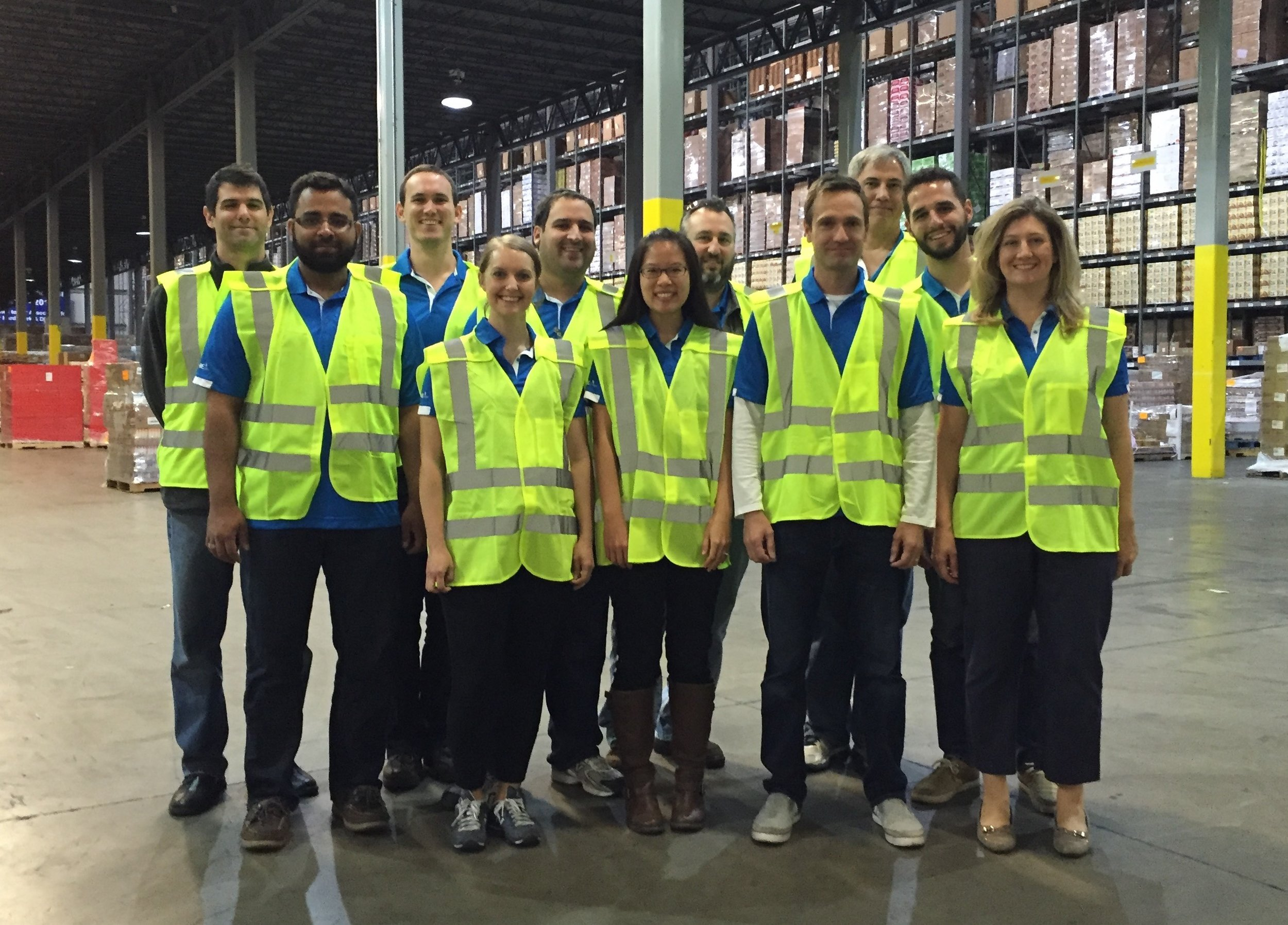 Our product team on a KeHE warehouse visit.