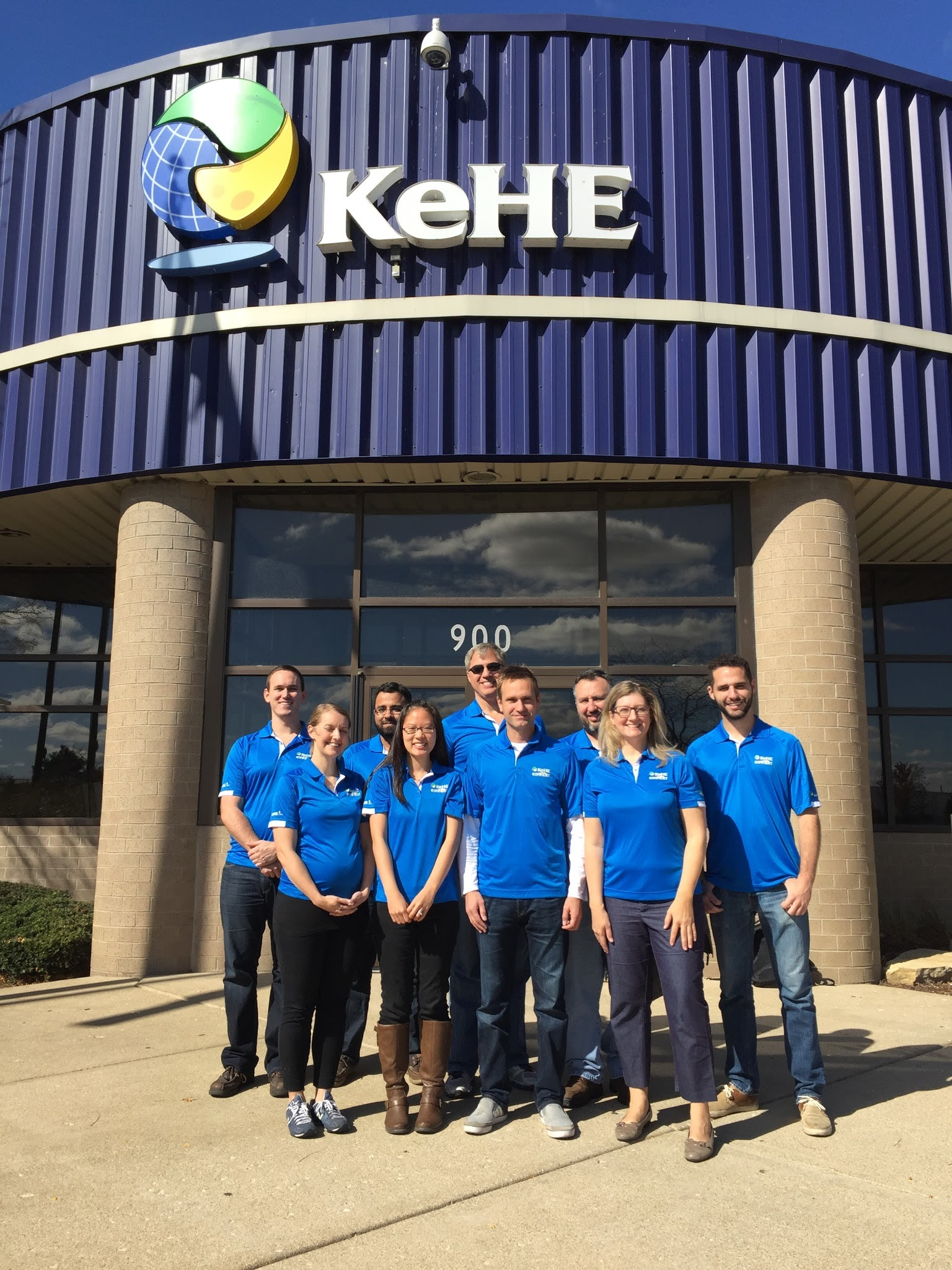 Dressed in our KeHE shirts after a KeHE warehouse tour.