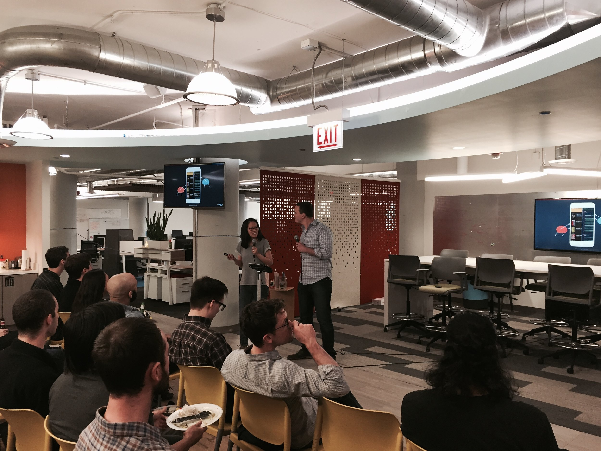 Speaking about designer developer collaboration at the  Art & Science of IxD Meetup  in Chicago.