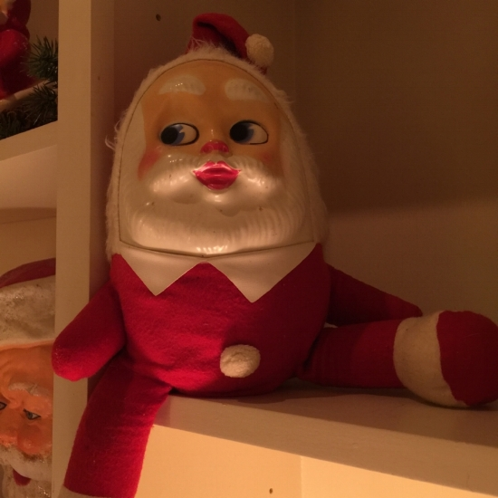 Humpty Dumpty Santa, unmarked, private collection, purchased from Candy Barnard