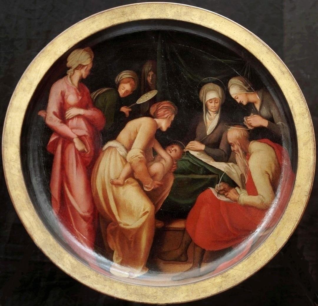 """ Birth of St. John Baptist"", Pontormo, c. 1526"