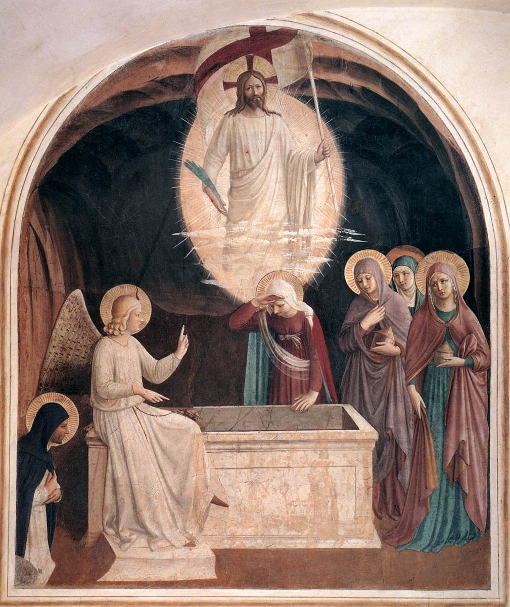 Women at the empty tomb , by Fra Angelico , 1437–1446