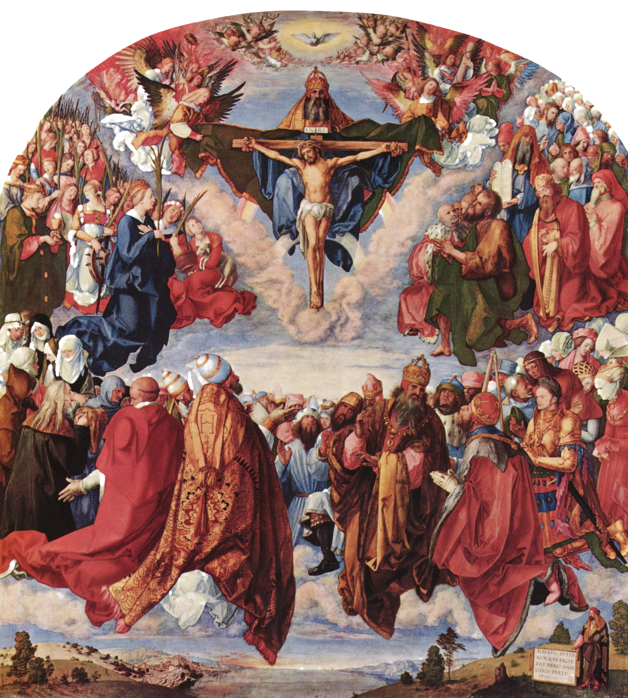 """""""Adoration of the Trinity"""" by Albrecht Dürer, 1509-1511"""
