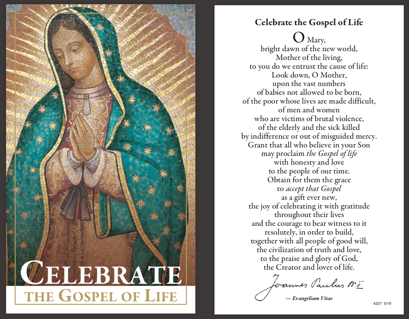 Click to download the prayer card as a printable PDF