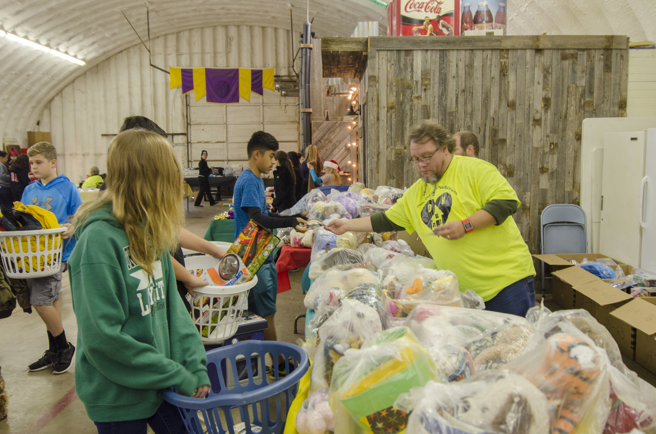 Your financial gifts and in kind donations make events like our annual Holiday Event possible.