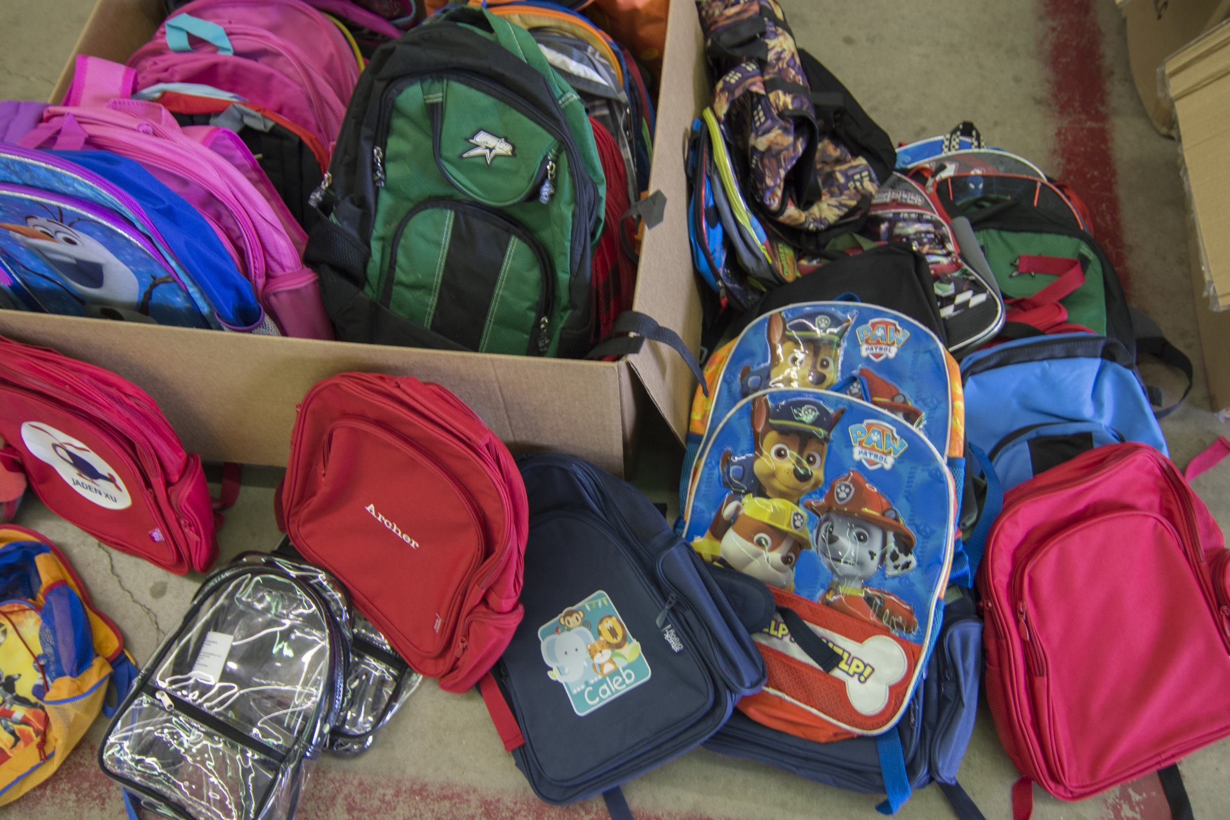 We handed out backpacks to over 100 children at our Back to School event this year.