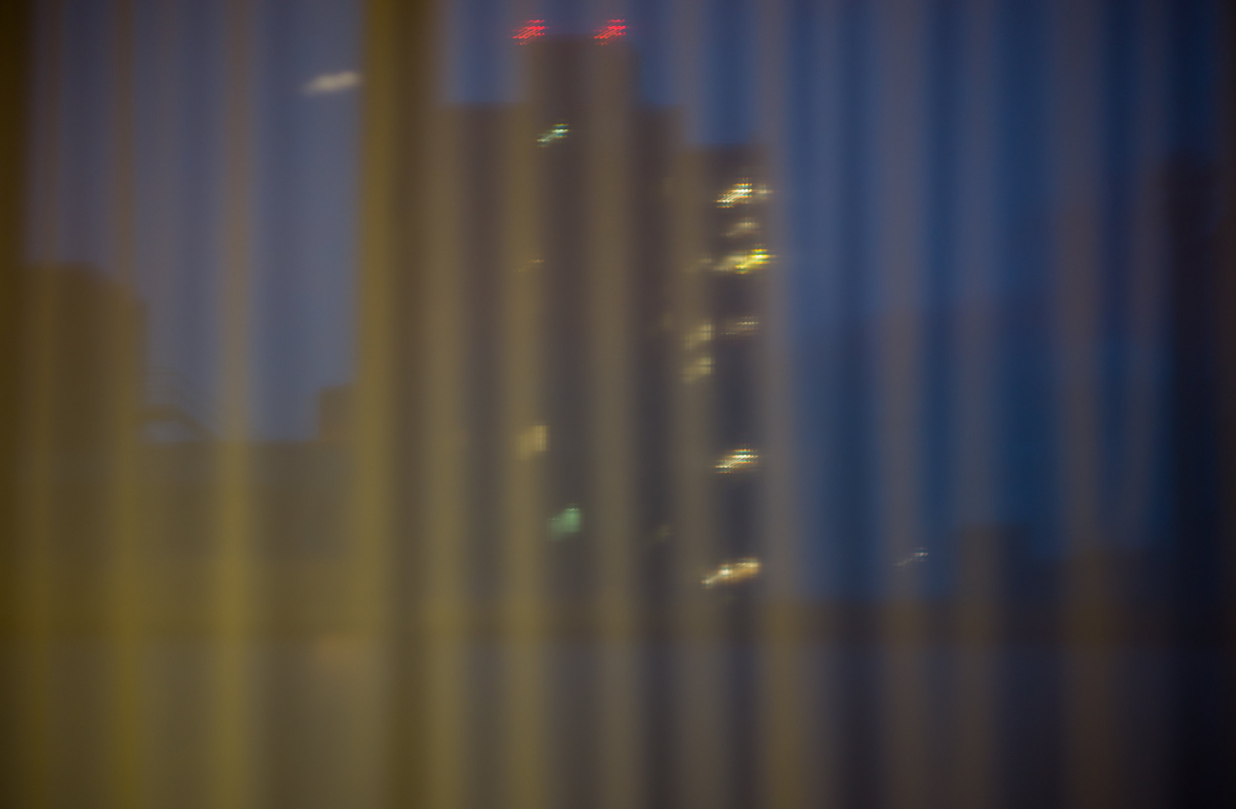 Cityscape through Fabric, Night