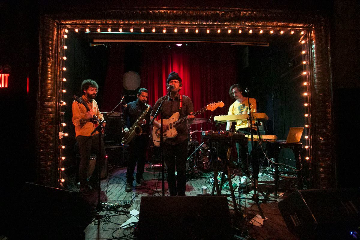 Sam Cohen and band; photo by  Emily Lipson