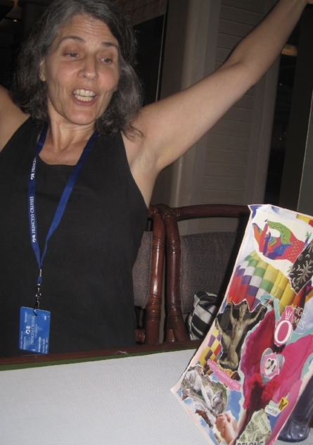 On a recent cruise with Shaman Eileen O'Hare she expresses the feelings of empowerment by the visions on her vision board.