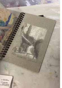Why do I make a drawing and color study first? To solve the problems quickly on a smaller scale so painting a larger version takes less time. See how.