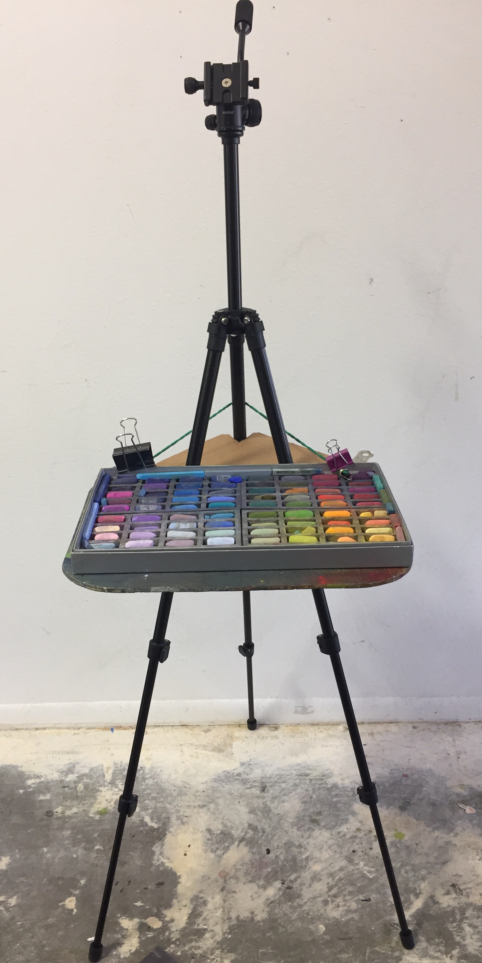 This palette tray I made. I did order the Ledereasel palette to try out and do love it. It is smaller than my homemade version which makes it better for traveling.