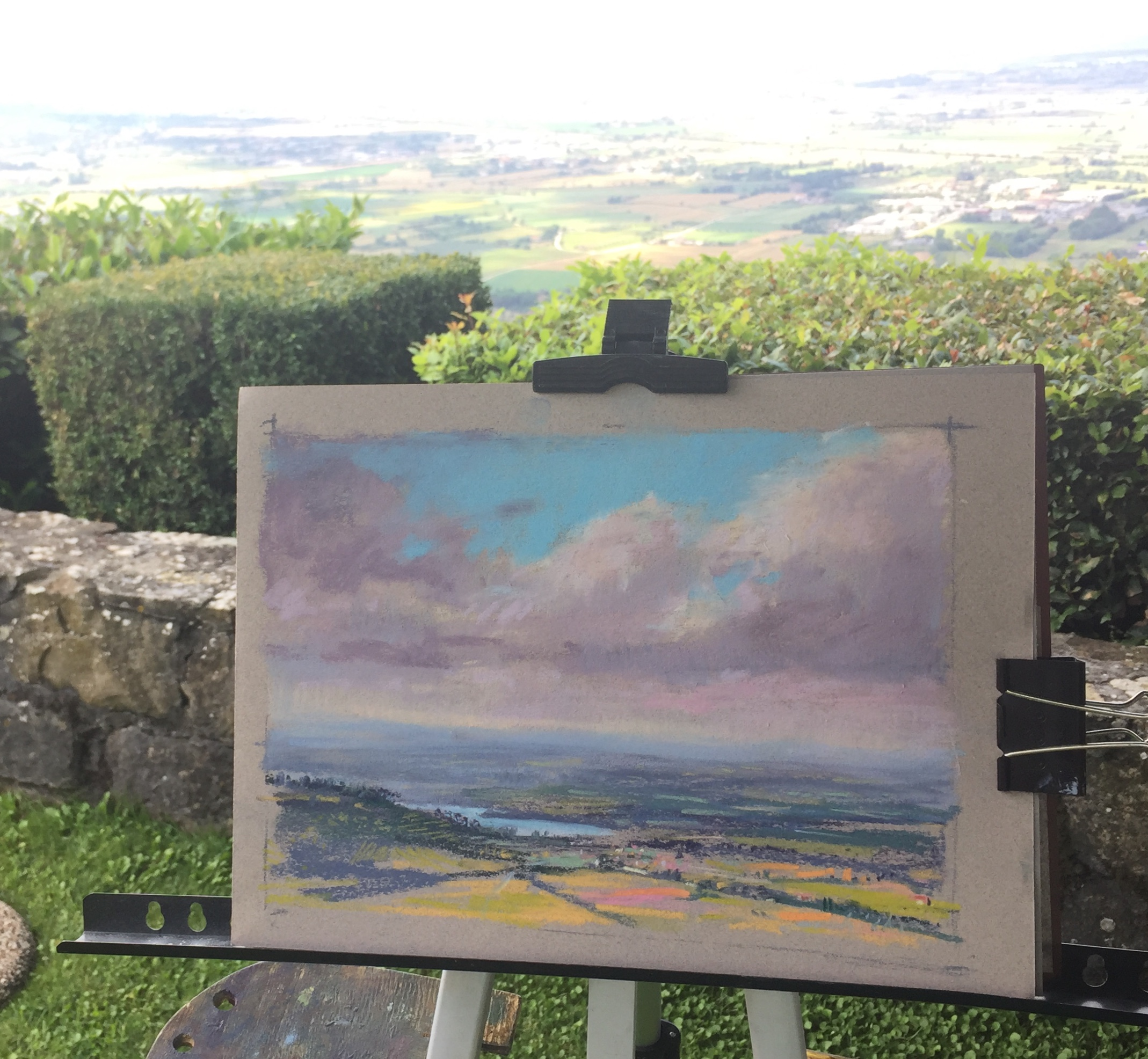 Learn how to start and finish a painting in pastel or oil while on location.