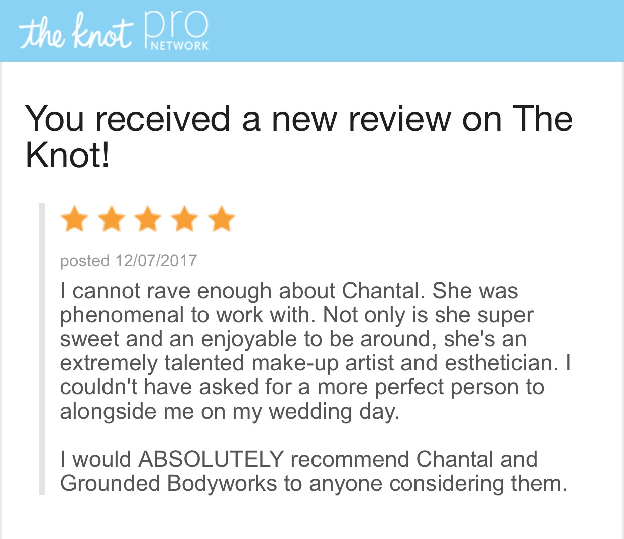 chantal - bringing only the best care to you on your best day!