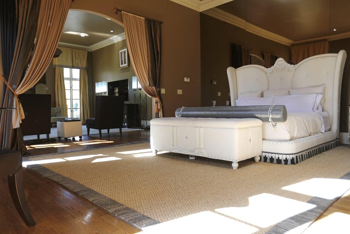 Bed view of Bedroom 1