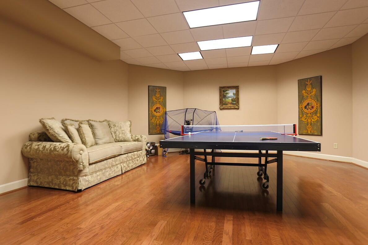 Basement Ping Pong Room