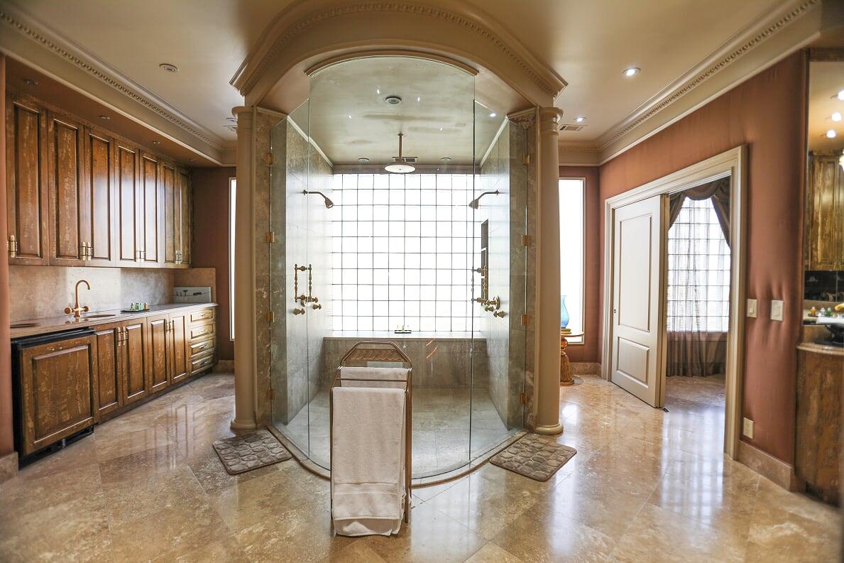 master bathroom's entrance