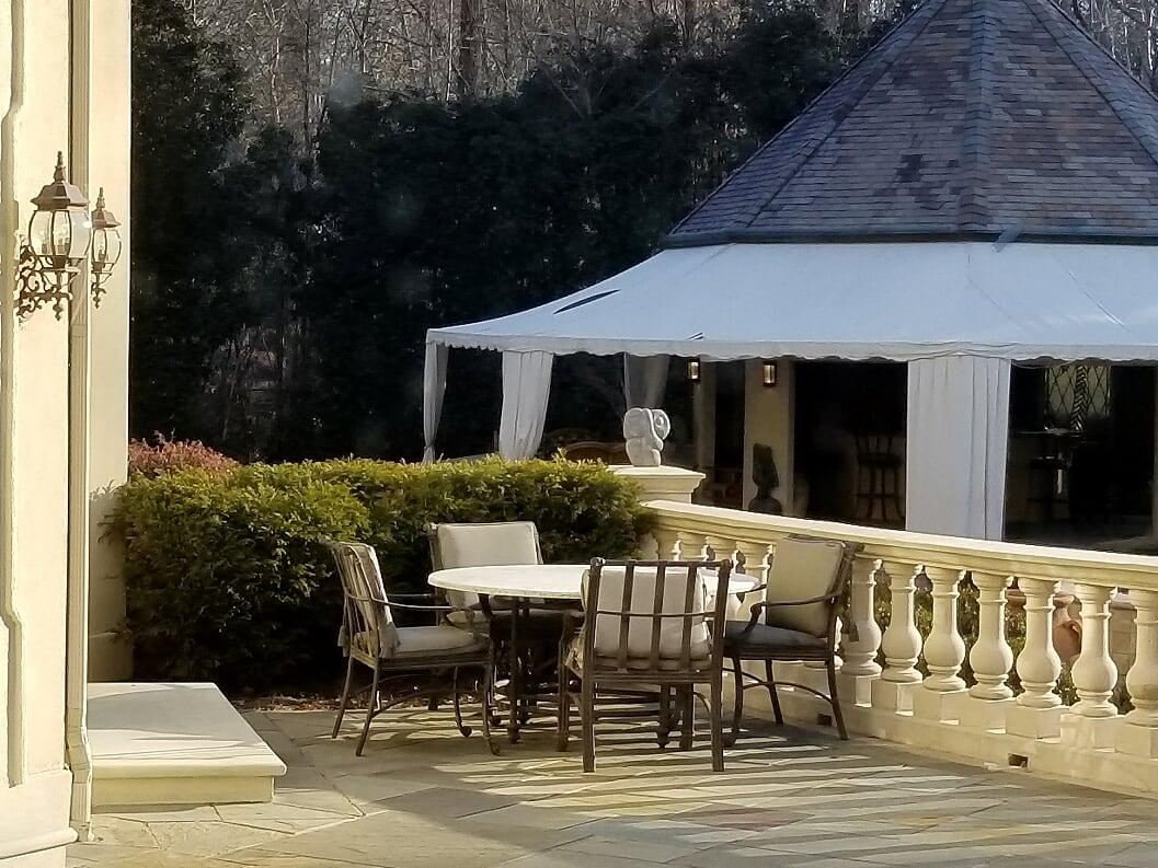 Breakfast area on the terrace