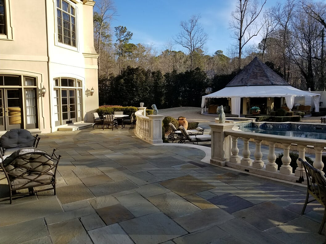 terrace & Backyard view