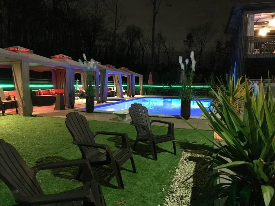 Illuminated Pool | Night Time