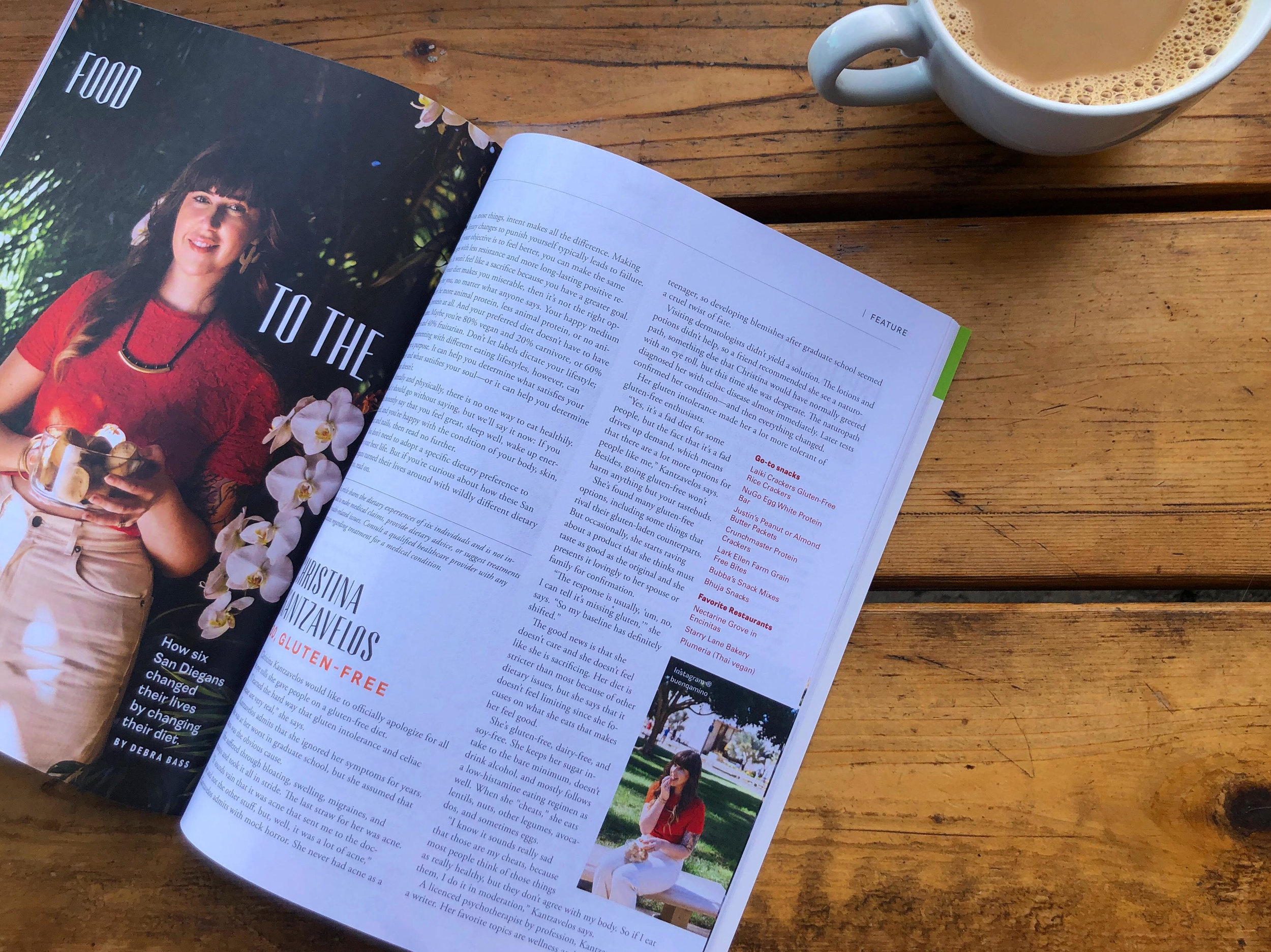 edible San Diego - Winter 2019 Issue - Gluten-Free in San Diego: Christina Kantzavelos