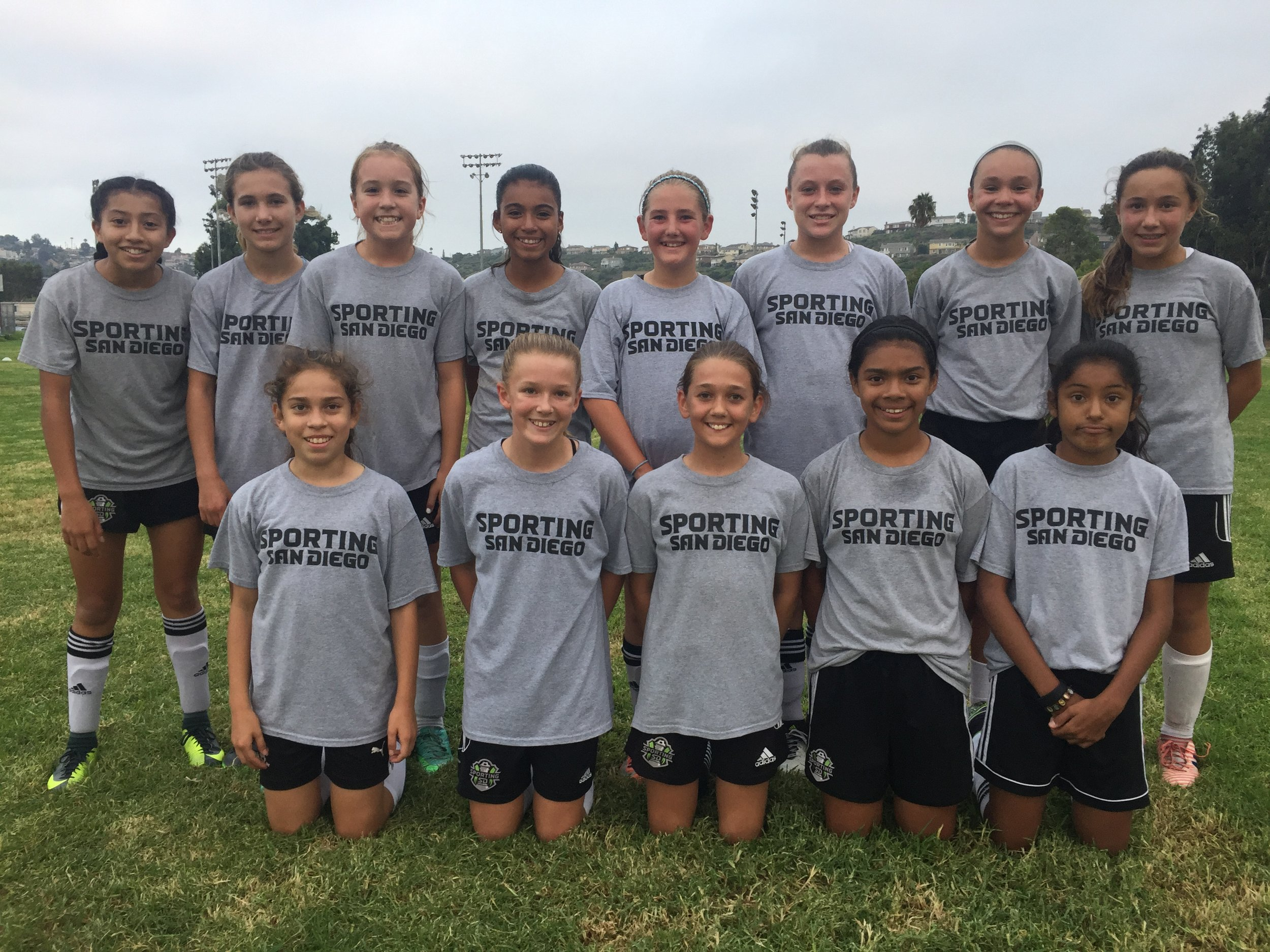 It's been a rewarding start for the Sporting 2005 girls in 2017. With strong showings at the West Coast FC and Copa at Del Mar Tournaments and a Liverpool Cup championship, the girls have faced top competition head on. The summer has also featured a visit to the University of San Diego pitch, quarterly player assessments, beach practices, leadership development lessons, video sessions, and of course, pool parties.  Committed offseason participation and key player additions have fueled advancement. Coaches Neil Saffer and Anthony Saffer have implemented a two-year emphasis on tactical development after building a solid technical foundation. Each training session is built on competition. The team's goal is to continue developing into a top team in Cal South in a family-friendly atmosphere.