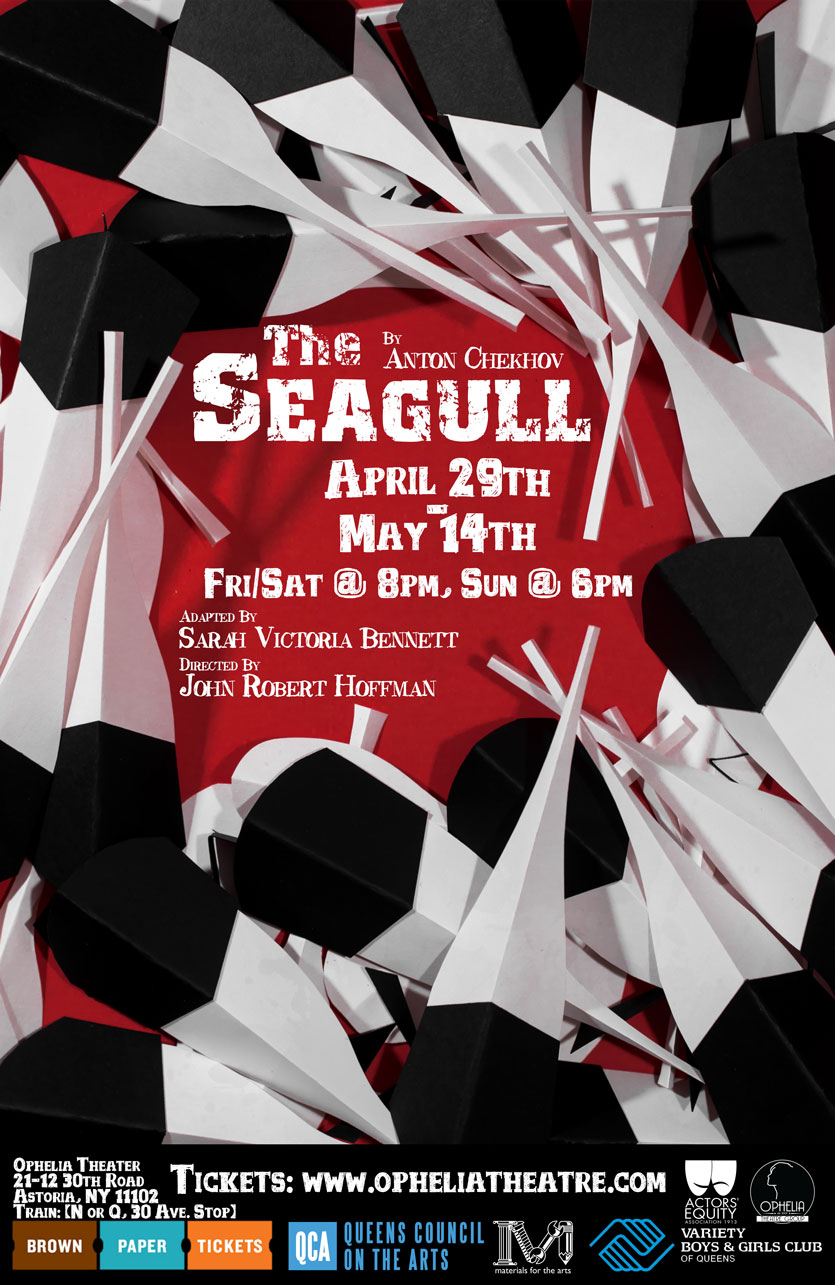 The Seagull by Anton Chekhov, poster design courtesy of  John Robert Hoffman .