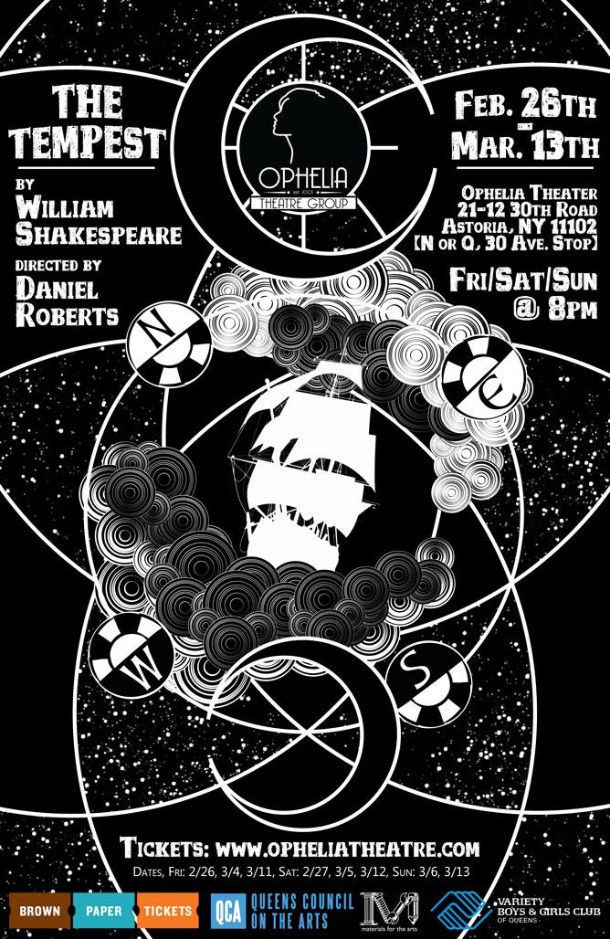 The Tempest poster design courtesy of  John Robert Hoffman .