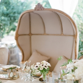 Tuscan Elegance - A romantic wedding held at the brides mothers home, in shade of gold, creme and taupe. Photos by Michael Costaopen gallery