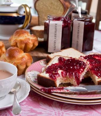 Raspberry Grappa & Brioche