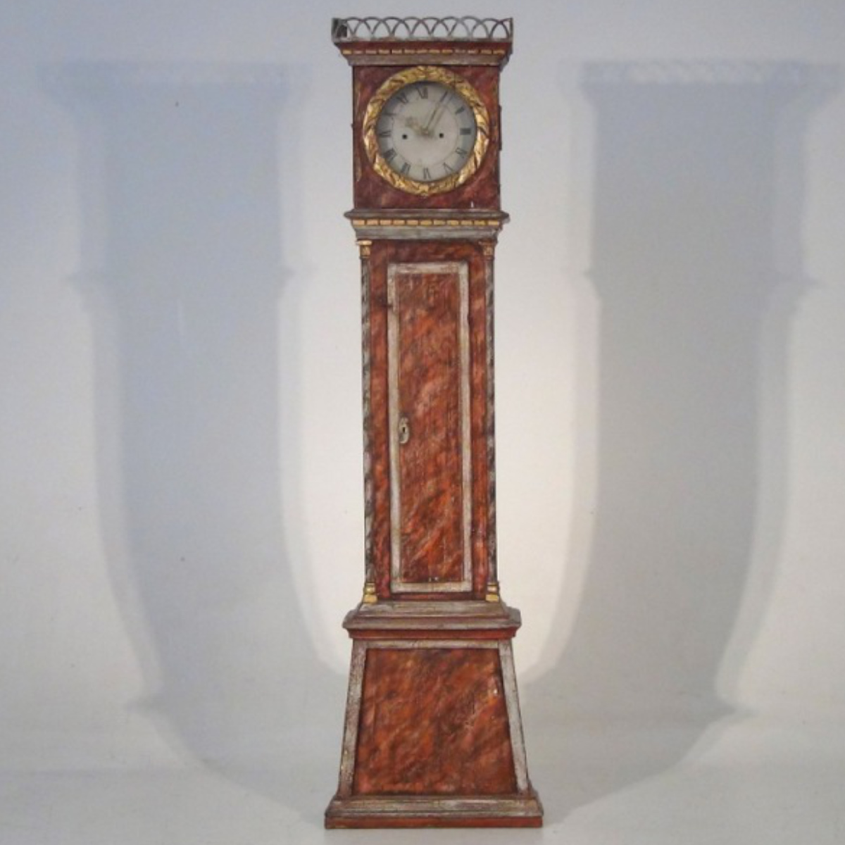 Fine original painted clock, 19th C. - € 1.100