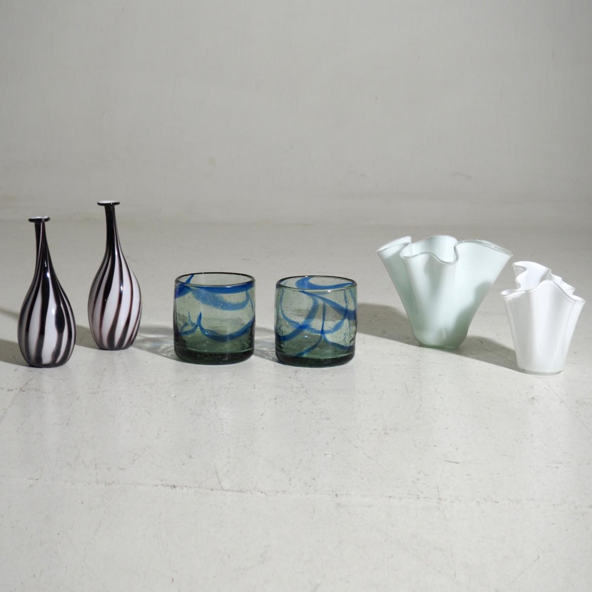 Six vases, 1950 - 80's. - € 600