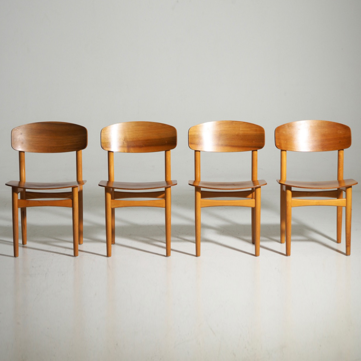 Børge Mogensen chairs in teak, 1960´s. - € 1.200