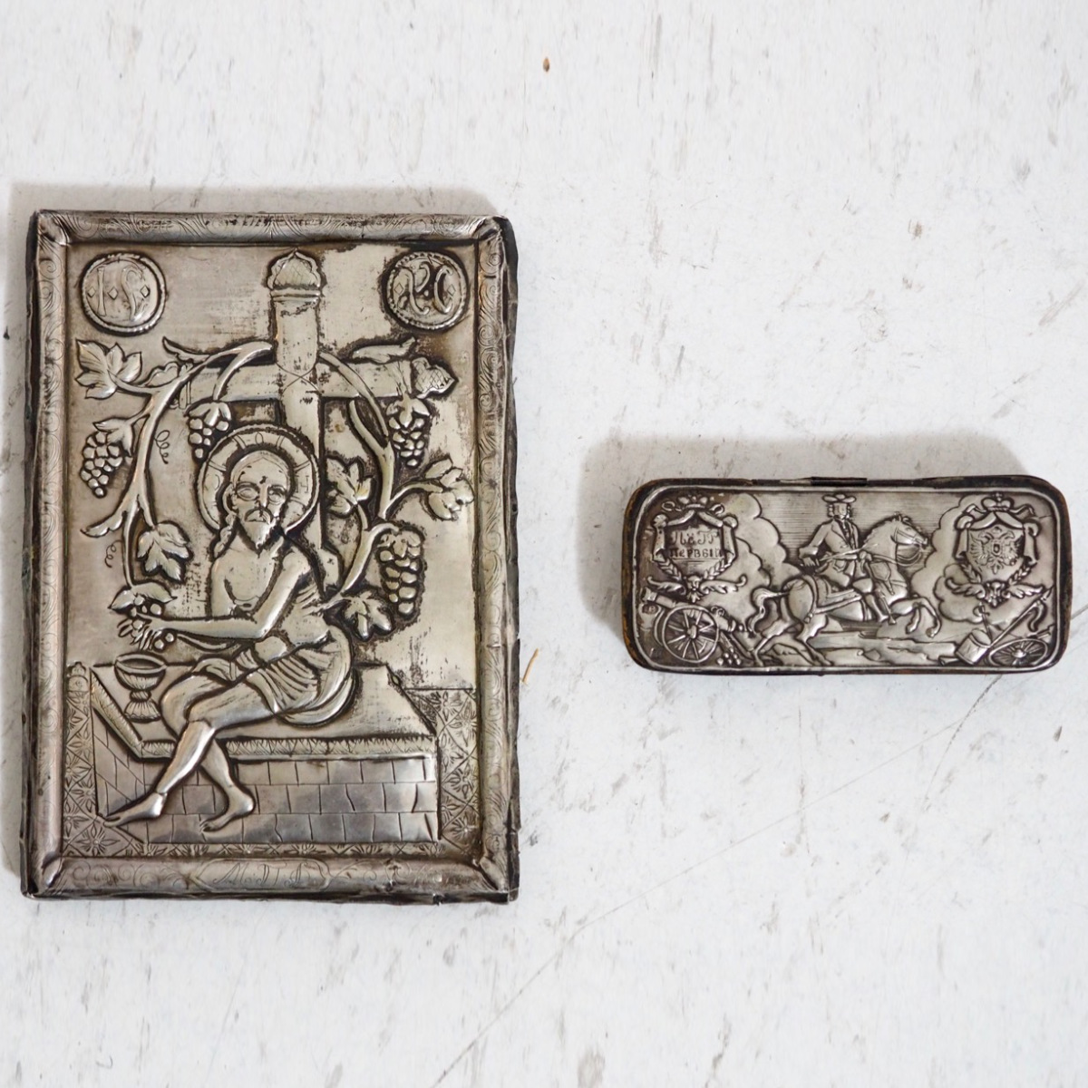 Russian silver Icon, 19th C. - € 2.000