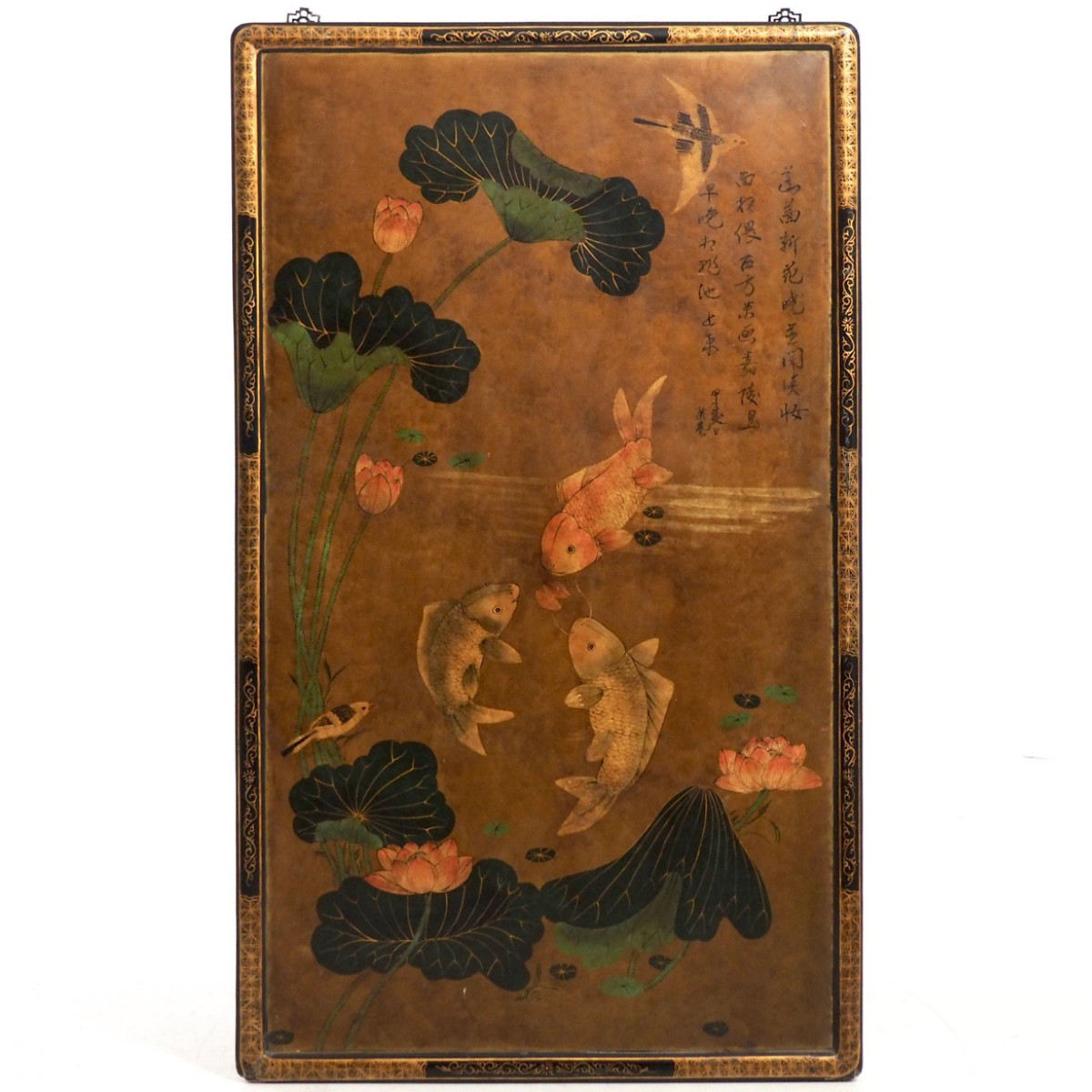 Chinese lacquer screen, late 19th C. - € 2.200