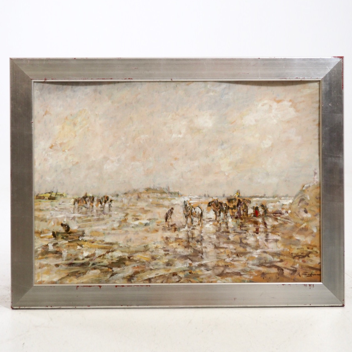 German impressionist painting, signed. - € 1.500