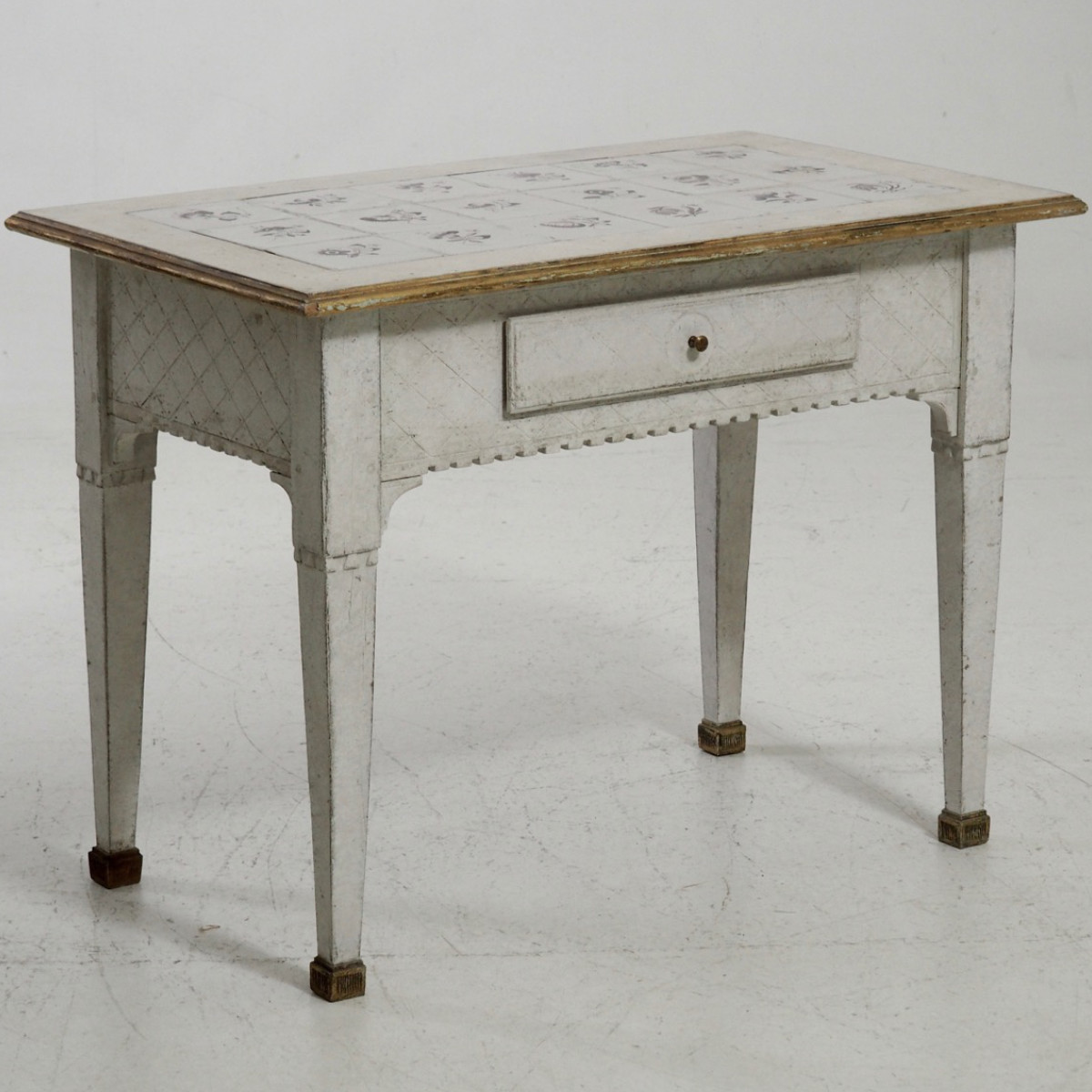 Scandinavian tile-top table, 1790. - € 1.600