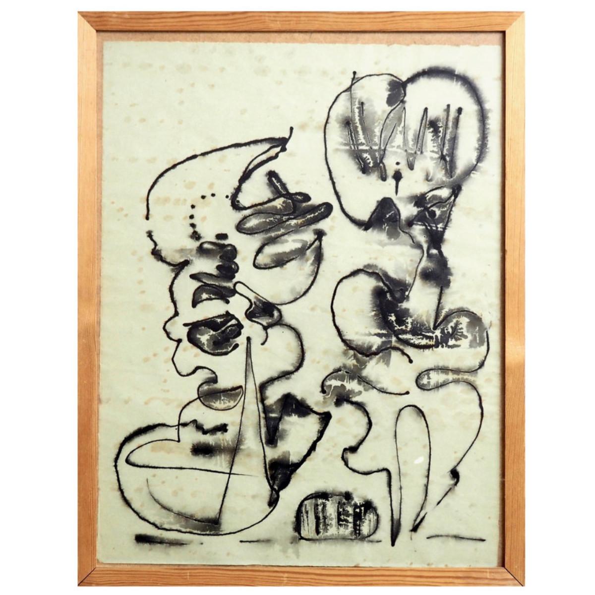 Tusch paint composition, 1960's. - € 1.500