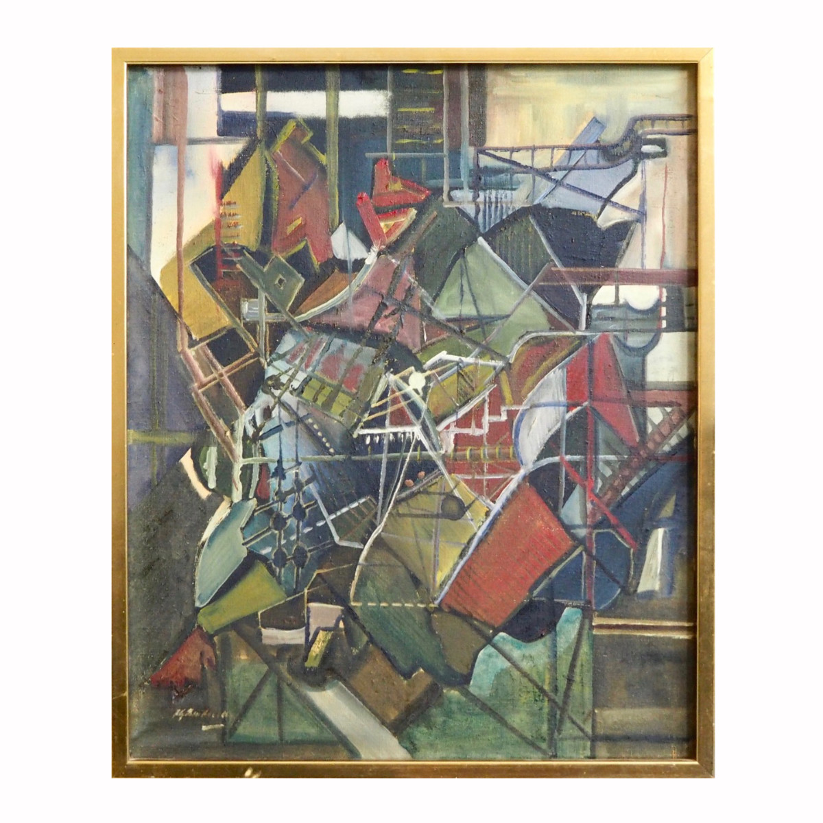 Very fine cubistic European painting. - € 2.000