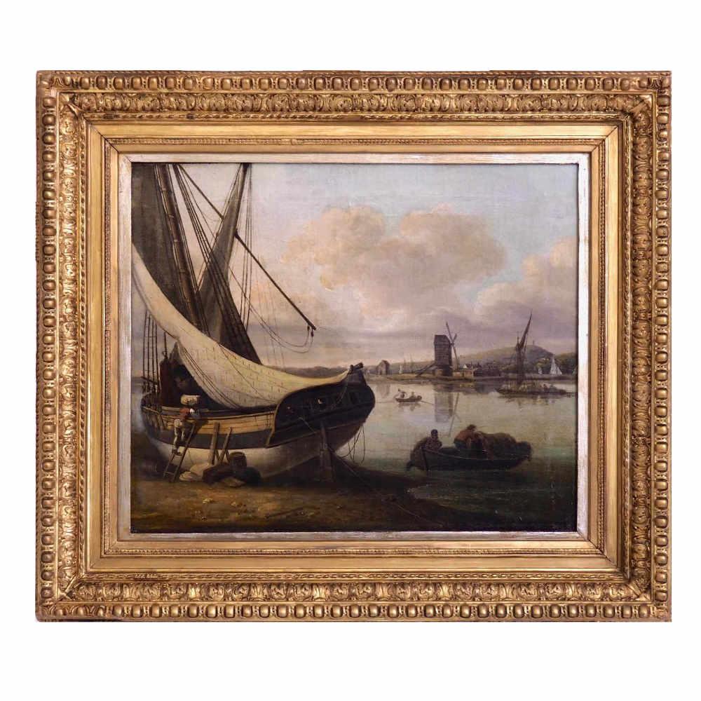 Fine harbour painting, 19th C. - € 4.000